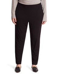 Eileen Fisher Slim Ankle Slouchy Pant Black