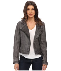 Blank Nyc Vegan Leather Moto Jacket Grey Women's Jacket Gray