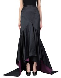 Zac Posen Long Skirts Dark Blue