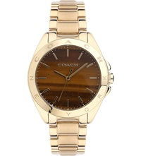 Coach 14502053 Tristen Gold Toned Watch Bronze