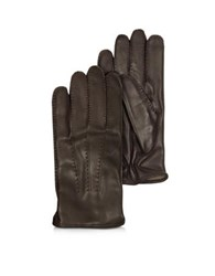 Moreschi Canada Dark Brown Leather Men's Gloves W Cashmere Lining