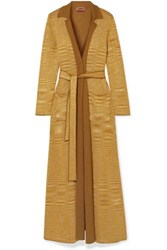 Missoni Belted Sequin Embellished Knitted Cardigan Yellow