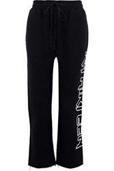 R 13 Printed Cotton Blend Track Pants Black