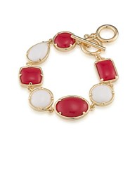 1St And Gorgeous Multi Shape Flex Toggle Bracelet Red White Red And White