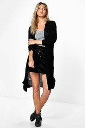 Boohoo Long Slouchy Cardigan Black