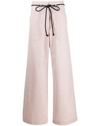 Ann Demeulemeester Drawstring Flared Trousers Pink