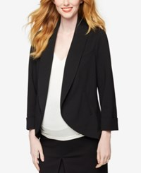 A Pea In The Pod Maternity Open Front Blazer Black