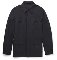 Tom Ford Slim Fit Cotton Twill Field Jacket Navy