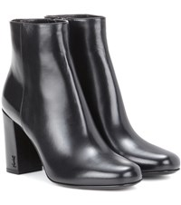 Saint Laurent Babies 90 Leather Ankle Boots Black