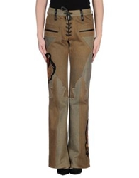 A And G Denim Pants Brown