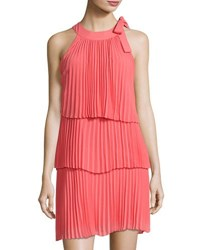 Cynthia Steffe Eloise Tiered Pleated Dress Pink