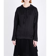 Sharon Wauchob Creased Satin Hoody Black