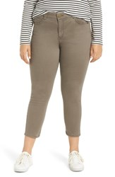 Wit And Wisdom Ab Solution Crop Skinny Pants Brindle Olive