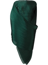 Issey Miyake Pleats Please By Pleated Scarf Green