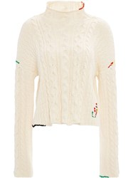 J.W.Anderson Jw Anderson Cropped Cotton Cable Jumper 60