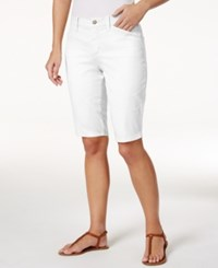Nydj Christy Twill Bermuda Shorts Optic White