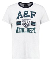 Abercrombie And Fitch Muscle Fit Print Tshirt Grey Light Grey