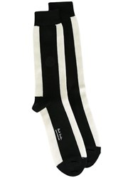 Paul Smith Striped Socks Black