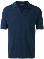 Roberto Collina Shortsleeved Polo Blue