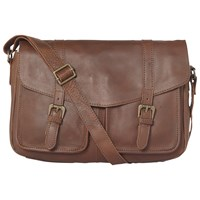 Fat Face Oiled Satchel Bag Chocolate