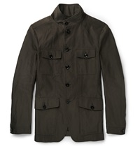 Tom Ford Cotton Twill Jacket Green