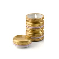Villari Baby Macaron Scented Candle Gold And Lilac