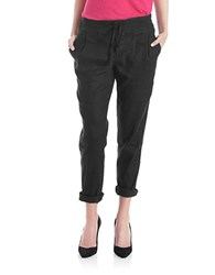 424 Fifth Cropped Lounge Pants Black