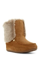 Fitflop Mukluk Genuine Shearling Fur Boot Gray