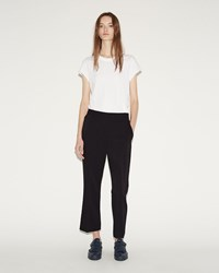 Alexander Wang Front Pleat Crop Trousers Black