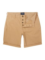 Criminal Men's Cotton Chino Shorts Latte