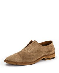 Frye Paul Suede Balmoral Oxford Shoe Ash