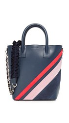 Mother Of Pearl Mini Tote Navy Pink Red