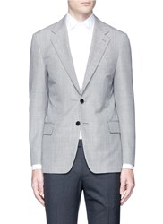 Tomorrowland Houndstooth Mohair Wool Blazer Grey