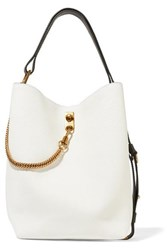 Givenchy Gv Bucket Textured Leather Shoulder Bag White