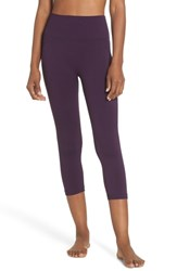 Climawear Millie Perforated Crop Leggings Purple Pennant