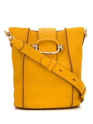 Tod's Bucket Style Shoulder Bag Yellow
