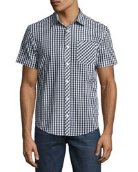 Original Penguin Gingham Short Sleeve Sport Shirt Black