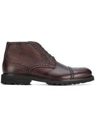 Baldinini Lace Up Brogue Boots Brown
