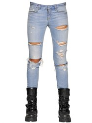 Faith Connexion Slim Vintage Destroyed Denim Jeans