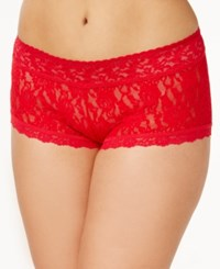 Hanky Panky Plus Size Boyshorts 481281X Red