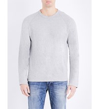 James Perse Crewneck Cotton Jersey Sweatshirt Heather Grey