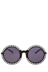Preen Chantilly Black Marble Sunglasses