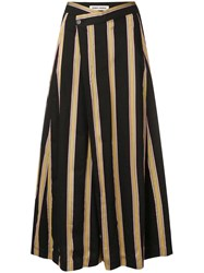 Henrik Vibskov Pound Striped Culottes Black