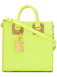 Sophie Hulme Le Chartreuse Tote Yellow Orange