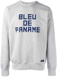 Bleu De Paname 'Sweat Chine Bdp' Sweatshirt Grey