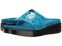 Donald J Pliner Fifi Turquoise Patent Women's Wedge Shoes Blue