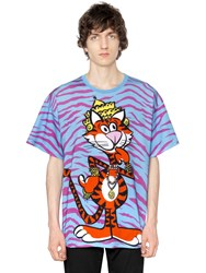 Moschino Oversize Tiger Cotton Jersey T Shirt