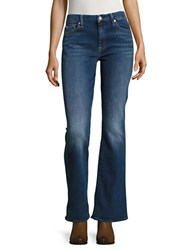 7 For All Mankind Flared Mid Rise Jeans Blue