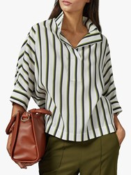 Ted Baker Aleciia Striped Batwing Blouse White