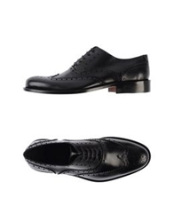 Gold Brothers Lace Up Shoes Black